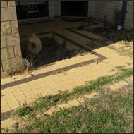 Front path cleaning before