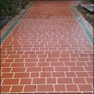 Paved driveway cleaning after