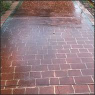 Paved driveway cleaning before