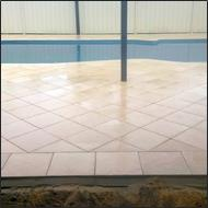 Pool surround clean and seal after