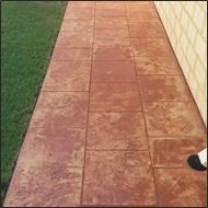 before tinted sealer burnt clay