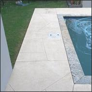 bore stain around pool after