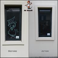window graffiti before