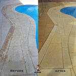 bore-stain-removal-around-pool