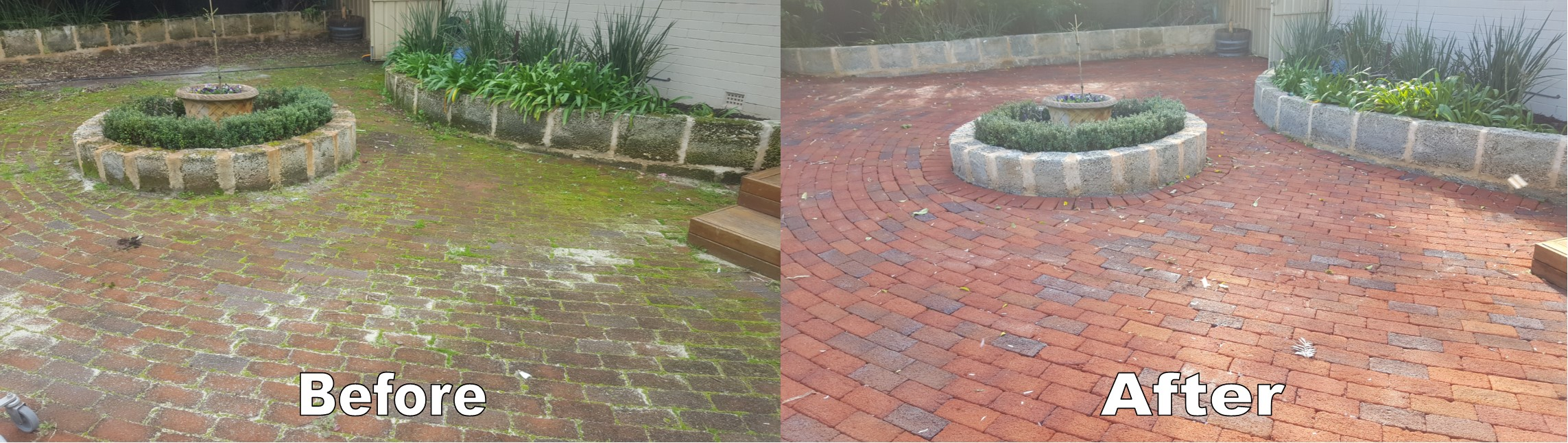 Clay Paver High Pressure Cleaning Perth
