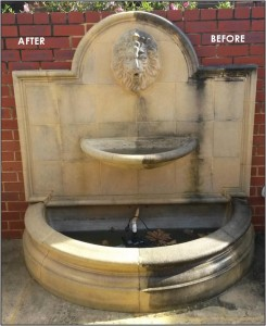 Water Feature high pressure cleaning perth