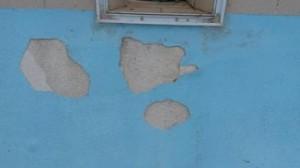 Damaged pool plaster