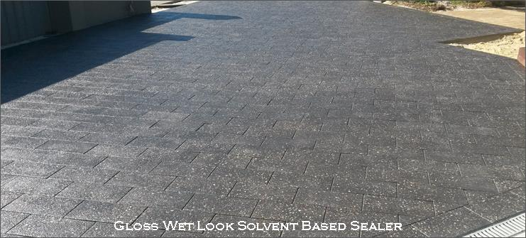 gloss wet look solvent based sealer