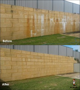 Limestone Wall Cleaning