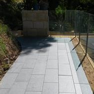 granite paver after