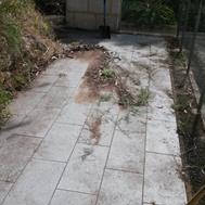 granite paver before