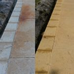 Driveway Cleaning - bore stain removal