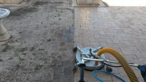 high pressure cleaning - before and after - pt kennedy